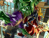 Hulk VS Thor Fan-Art