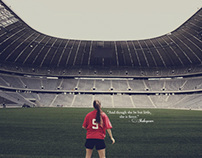Girl in a Stadium