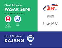 MRT Train Map Display Case Study