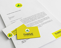 Thrive Health & Nutrition Logo and Marketing Material