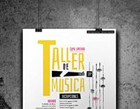 Cartel del Taller de música 19ª edición en Xalapa