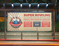 Bowling Billboard Template