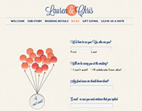 Wedding Website - Lauren & Chris