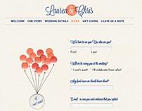Wedding Website - Lauren & Chris