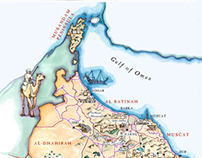Illustrated Tourist Map of the Sultanate of Oman