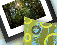 Pattern: Forest Green Sky Blue
