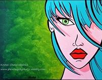'New Girl 2' - Original Acrylic Painting on Canvas