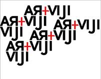 RVG (artviji) merahputihitam typography