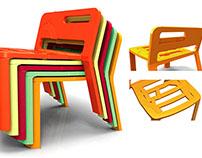 Diseño de silla apilable para Battery Conservacy Park