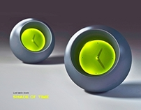 Led table clock SHADE OF TIME
