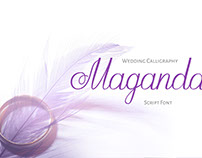 Maganda script font