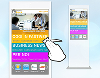 Digital Signage UI for FASTWEB intranet