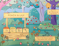 PEACH & LILY ENVIRONMENTAL GRAPHICS