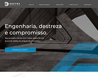 Website for Dextra Engenharia