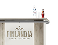 Concept BAR for vodka Finlandia