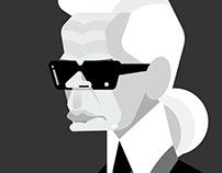 Karl Lagerfeld vector art