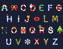 Christmas GIF alphabets