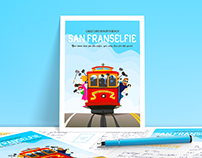San Franselfie – Hand-Drawn Poster and Postcard