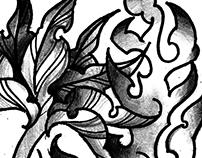 Tattoo flower design