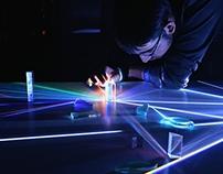 cornfields: prism + light installation
