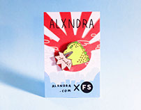 Alxndra X Family Store collab pin
