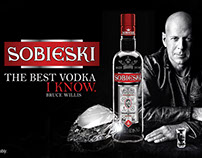 "SOBIESKI VODKA ""The Vodka I Know"" Bruce Willis"