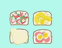 Breakfast Toasts.