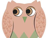 Three owls in Illustrator
