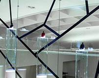 Installation für die Duftpräsentation von Puig im mumok