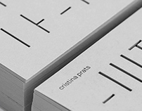 Cristina Prats Arquitecta | Identity