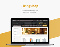 Firing shop/E-commerce template/Web design/UI/UX