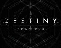 Destiny Year 2+3 Interface/Visual Design