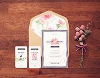 minuet - wedding invitation design