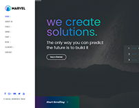 Front-Page - Marvel WordPress Theme