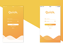 Quick. App | Login Page
