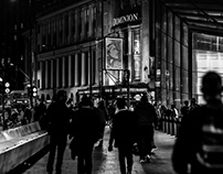 A Night in London in Black and White