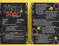 Sano Bar: Food Menu
