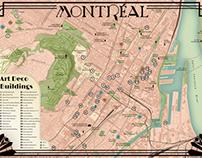 Montréal Art Deco Map