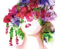 Summer Florals Fashion Illustration