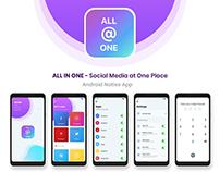 All in One Social Media Native App UI UX Design