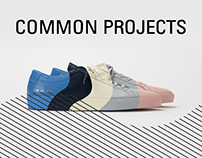 Common Projects E-Commerce Concept