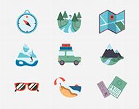 Travel Flat icon - Around the world