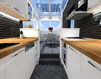 Belgrade-reconstruction 3D interior design of apartment