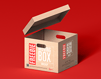 Free Moving Box Mockup