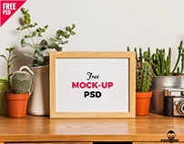 Table Photo Frame Free Mockup PSD