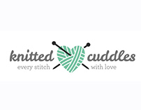 Knitted Cuddles: logo design