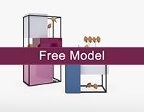 Free 3D Models; Moca Sideboard Series