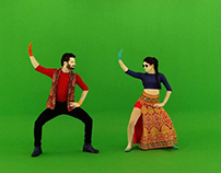Bollywood style costume for international audience