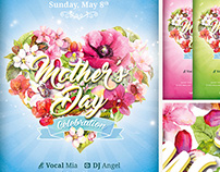 Mother's Day Celebration FREE PSD Flyer Template