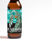 """Owl Take Another"" Beer Bottle Label Design"